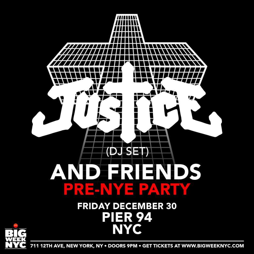 Justice pre-NYE DJ set